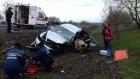 Козельщинський район: постраждалого в ДТП рятувальники деблокували з понівеченого авто (фото)