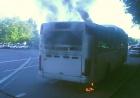 У Полтаві на вулиці Великотирнівській спалахнув автобус Вольво-B10