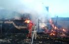 У Котельві згоріли будматеріали